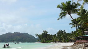 Tropical beach of Anse Volbert, Seychelles. Tropical beach of Anse Volbert, Praslin island, Seychelles stock video footage