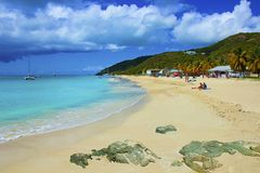 Tropical beach in Antigua, Caribbean Royalty Free Stock Image