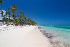 Tropical beach as tourist resort Royalty Free Stock Images