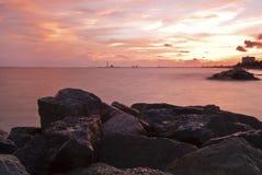 Free Tropical Beach At Beautiful Sunset Royalty Free Stock Photos - 26670878