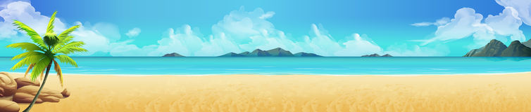 Free Tropical Beach Background Royalty Free Stock Photos - 71142308