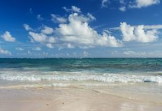 Tropical Beach Background in Punta Cana, Dominican Republic. Tropical Beach Background in Punta Cana, Dominican Republic, Background royalty free stock images