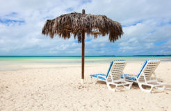 Tropical beach on Bahamas Stock Images