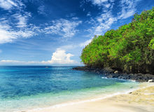 Tropical beach. Bali Island, Indonesia Royalty Free Stock Photo
