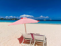 The tropical beach, Barbados, Caribbean stock images