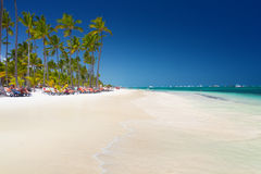 Tropical beach Bavaro Royalty Free Stock Images