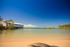 Tropical beach and bay Royalty Free Stock Image