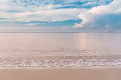 Tropical beach with beautiful clouds in Rayong, Thailand Stock Photos