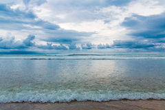Tropical beach and beautiful sea. Blue sky with clouds in the ba Stock Photography
