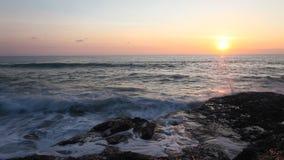 Tropical beach at beautiful sunset. stock footage
