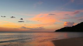 Tropical beach at beautiful sunset stock video footage