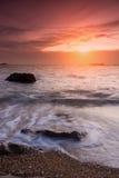 Tropical beach beautiful sunset at Sea Stock Photos