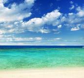 Tropical beach. Beautiful tropical white sand beach royalty free stock photos