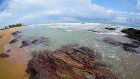 Tropical beach at Bidara Bay stock video footage
