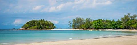 Tropical beach on Bintan island resorts Indonesia. Tropical beach on Bintan island resorts, Indonesia royalty free stock photo