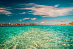 Tropical beach and blue lagoon Royalty Free Stock Photo