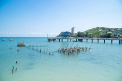 Tropical beach and blue sea Stock Photo