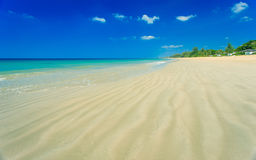 Tropical beach and blue sky, Andaman sea Thailand Stock Photos
