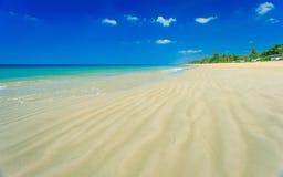 Tropical beach and blue sky, Andaman sea Thailand Stock Photos