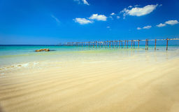 Tropical beach and blue sky, Andaman sea Thailand Stock Photo