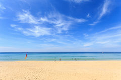 Tropical beach and blue sky in Phuket, Thailand Royalty Free Stock Photo