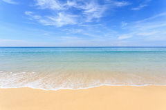 Tropical beach and blue sky in Phuket, Thailand Royalty Free Stock Image