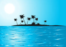 Tropical_beach_blue_sunny_day Stock Image