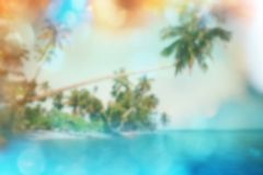 Tropical beach blur Royalty Free Stock Images