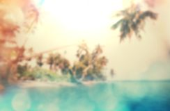Tropical beach blur Stock Images