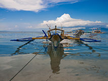 Tropical Beach Boat in the Philippines Royalty Free Stock Photo