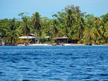 Tropical beach in Bocas del Toro Stock Photos