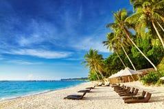Tropical beach. Boracay island, Philippines Stock Photos