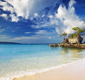 Tropical beach, Boracay, Philippines Stock Photos