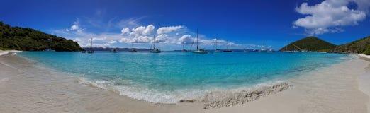 Tropical beach in British Virgin Island (BVI), Caribbean Stock Image