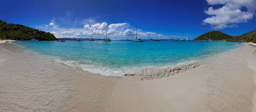 Tropical beach in British Virgin Island (BVI), Caribbean Stock Photo