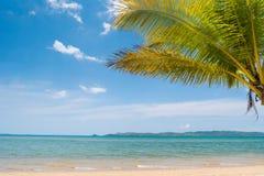 Tropical beach on the Busuanga island, Palawan, Philippines stock photography