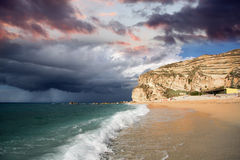 Tropical beach, Calabria, Italy Royalty Free Stock Images