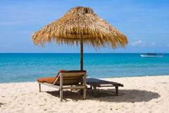 Tropical beach in Cambodia Royalty Free Stock Photo