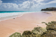 Tropical beach on the Caribbean island Crane beach, Barbados Stock Photo