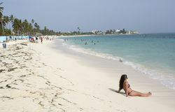 Tropical beach on the Caribbean island of San Andres , Colombia. Royalty Free Stock Photos