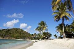 Tropical beach in Carribean Stock Image