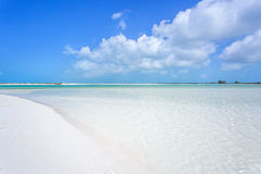 Tropical beach in Cayo Largo island Royalty Free Stock Image
