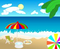 Tropical beach, cdr vector Royalty Free Stock Photo