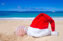 Tropical beach Christmas and New Year background Royalty Free Stock Image
