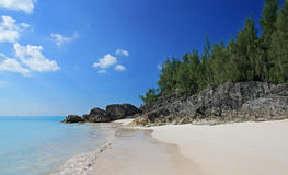 Tropical Beach. A tropical beach, with a clear blue sea, on a summers day Stock Photography