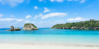 Tropical beach and clear blue water, Okinawa, Japan Stock Image