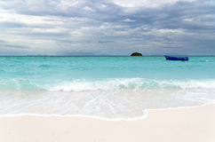 Tropical beach at cloudy weather Stock Photography