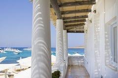 Tropical beach club Malta stock photography