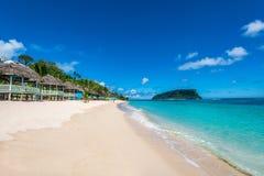 Tropical Beach. On the coast of Western Samoa Stock Images