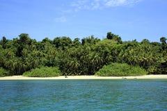 Coibita Tropical Beach. Tropical Beach of Coibita, aka Rancheria. Coiba National Park, Panama Royalty Free Stock Image